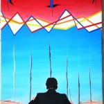 Direttore di swap, spread e fumi tossici, 2013 olio su tela cm 35x50, Pasquale Mastrogiacomo, Acerno (SA).