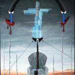 Tirannia del progresso (Tyranny of progress), 2013 olio su tela 60x80, Pasquale Mastrogiacomo, Acerno (SA).