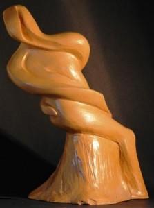 Uomo-rapito-dal-proprio-passato-1994-terracotta-h-27-cm