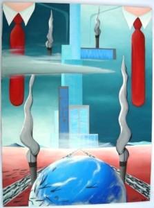 Paesaggio surreale,2010 olio su tela cm60x80 Pasquale Mastrogiacomo- Medaglia d'argento