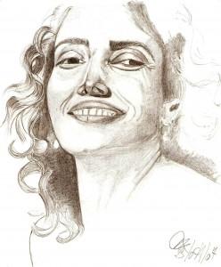 Ritratto, 2007 matita su foglio A4-Pasquale Mastrogiacomo