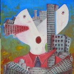 Città mortifera(Town deadly), 2007 olio su tela cm50x60, Pasquale Mastrogiacomo Acerno (SA)