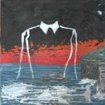 Capriccio informale 2 (whim informal), 2015 dipinto olio su tela (painting oil on canvas) cm 20x20, Pasquale Mastrogiacomo, Acerno (SA).