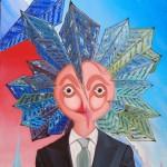 Santificazione della modernità(Sanctification of modernity), 2007 olio su tela cm 60x80, Pasquale Mastrogiacomo Acerno (SA)