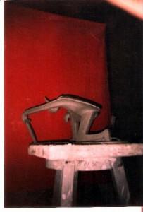 Cavaliere, 1995 scultura in argilla, opera realizzata in Accademia di Belle Arti di Napoli, Pasquale Mastrogiacomo, Acerno (Sa)