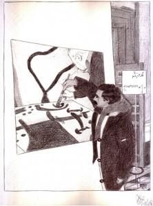 Ritratto di Pio Mastroogiacomo, 01/08/2012 disegno a penna, Pasquale Mastrogiacomo, Acerno(SA)