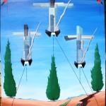 Supremazia occidentale (Western supremacy), 2013 olio su tela (oil painting on canvas), Pasquale Mastrogiacomo, Acerno (SA).