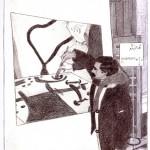 Disegno a penna, Ritratto di Pio Mastroogiacomo 2012, Pasquale Mastrogiacomo Acerno(SA)