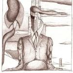 Disegno a penna, Mezzobusto di un rappresentante 2008, Pasquale Mastrogiacomo Acerno(SA)