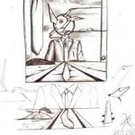 Disegno a penna, Esposizione universale 2006, Pasquale Mastrogiacomo Acerno(SA)