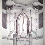 Disegno preparatorio, I Poteri (Preparatory drawing, The Powers), 2013 disegno a penna (pen and ink drawing) cm 24x32, Pasquale Mastrogiacomo, Acerno (SA).