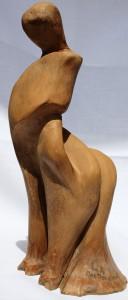 La malinconia di una centaura, 1994, scultura in terracotta h cm 30, Pasquale Mastrogiacomo, Acerno (SA)