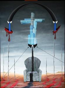Tirannia del  progresso, 2013 olio su tela 60x80, Pasquale Mastrogiacomo, Acerno(SA)