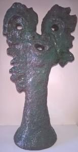All'alba dopo un incubo, 1991 ceramica artistica contemporanea h 50 cm, At dawn, after a nightmare 1991 contemporary ceramic art h 50 cm, Pio Mastrogiacomo, Acerno (SA).