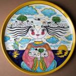 """""""Decoro Pio"""" (Decor Pio),  2005 diametro 35 cm , ceramica artistica (ceramic art), Pasquale Mastrogiacomo, Acerno (SA)."""
