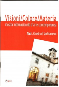 Credits, Visioni/Colore/Materia, Mostra internazionale d