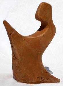 La santa el-rezione (the saint el-erection), 1997 bozzetto in terracotta (earthenware sketch) h 15 cm, Pasquale Mastrogiacomo, Acerno (SA).