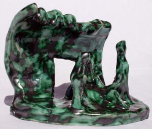Presepe naif (Naif nativity), 2001 ceramica artistica (ceramic art), h 20 cm, Pio Mastrogiacomo, Acerno (SA).