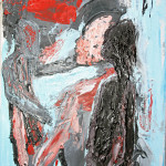 Ombre (shadows), 2016 dipinto olio su tela (painting oil on canvas), cm 20x30, Pasquale Mastrogiacomo, Acerno (SA).