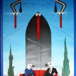 Avvoltoi d'Europa (Vultures of Europe), 2017 olio su tela (oil painting on canvas), cm 60x80, Pasquale Mastrogiacomo, Acerno (SA).