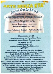 Credits-Arte senza età 2016, Arti Figurative Poesia Musica, Arco Catalano, Salerno, Pasquale Mastrogiacomo