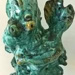 Ceramica artistica Pio Mastrogiacomo. Scultura: Donna con bambino, 1994. Acerno (SA).