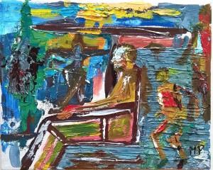 Antico saggio (Ancient wise), 2017 dipinto olio su tela(oil painting on canvas) cm 30x24,Pasquale Mastrogiacomo,Acerno(SA).