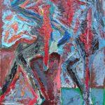 Danzatrici dell'onirico (Dancers of the oneiric), 2018 olio su tela(oil painting on canvas), cm 30x40,Pasquale Mastrogiacomo, Acerno(SA)
