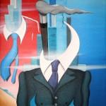 Mezzobusto di un rappresentante, 2010 olio su tela cm 60x80, Pasquale Mastrogiacomo, Acerno (SA).