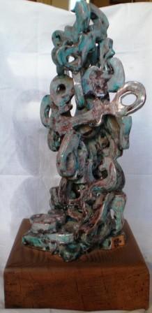 Chiavi in pila, 1997 ceramica h. 30