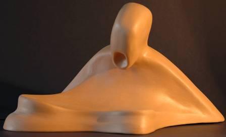 Grido disperato, 1997 terracotta h.cm 19, Pasquale Mastrogiacomo.