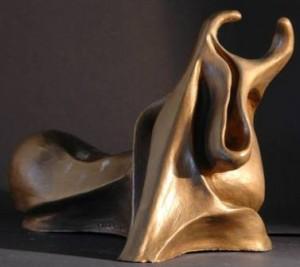 Sazio il Toro sbadiglia, 1994 terracotta patinata cm 23x18x14, Pasquale Mastrogiacomo.