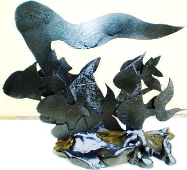 La libertà guida la Natura, 2009 bozzetto con diversi materiali, Pasquale Mastrogiacomo, Acerno(SA).