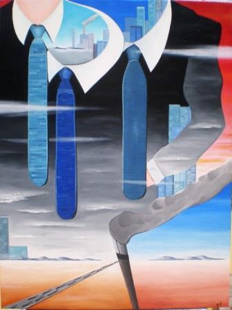 Instabilità coesistenti, 2009 olio su tela cm 60x80, Pasquale Mastrogiacomo, Acerno(SA).