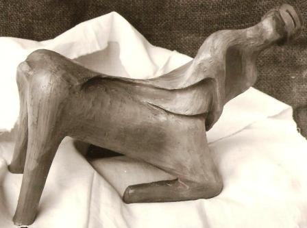 Centauro genuflesso, 1993 terracotta cm 20, Pasquale Mastrogiacomo, Acerno(SA).