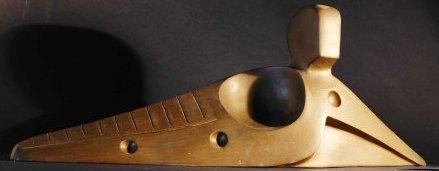 Figura distesa, 1994 terracotta patinata cm 35x20x15, Pasquale Mastrogiacomo, Acerno(SA).