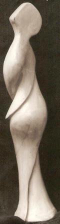Torsione mistica, 1997 gesso h 50 cm, Pasquale Mastrogiacomo, Acerno(SA).