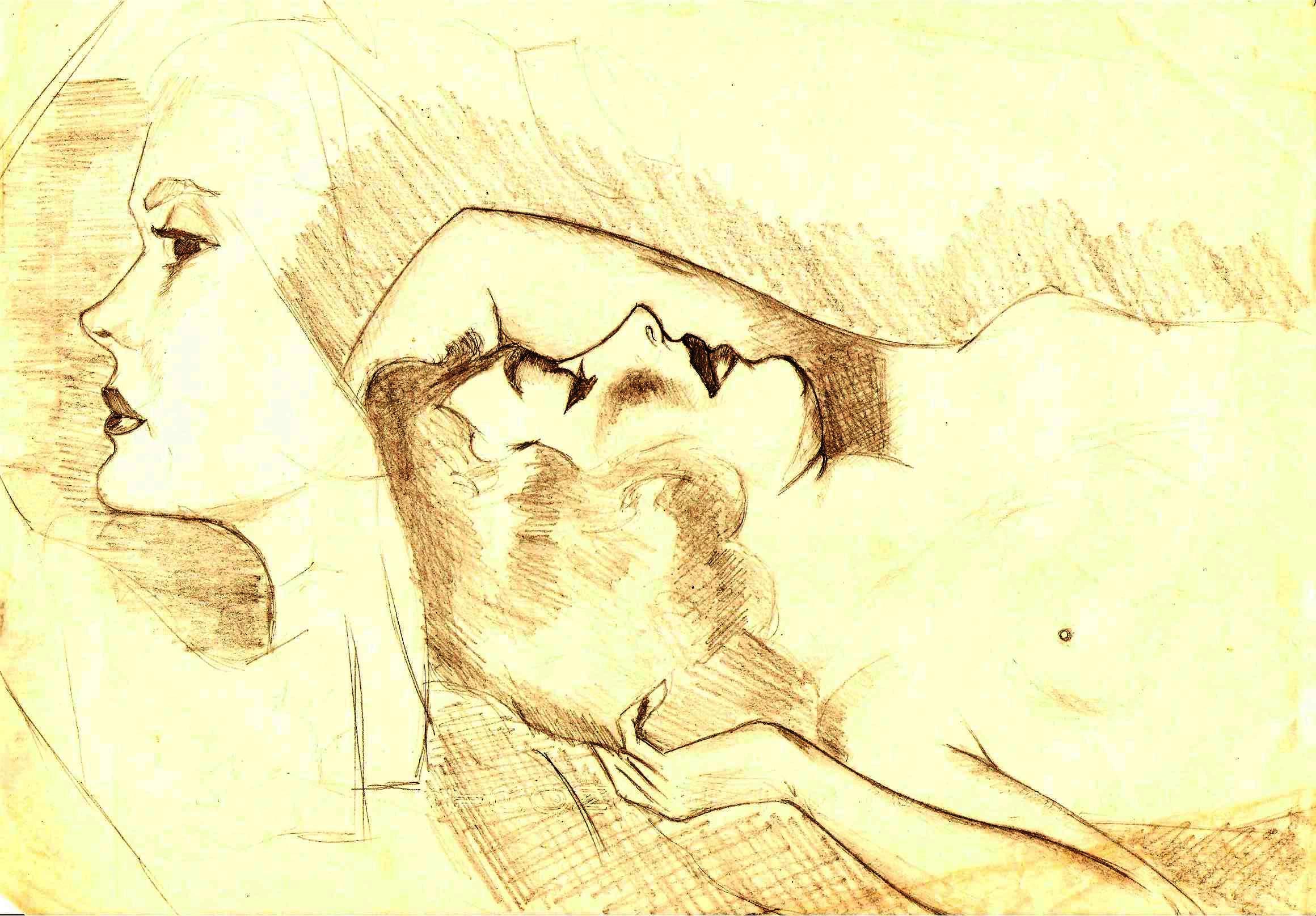 Ritratto, 1990 matita su foglio A4-Pasquale Mastrogiacomo, Acerno(SA).