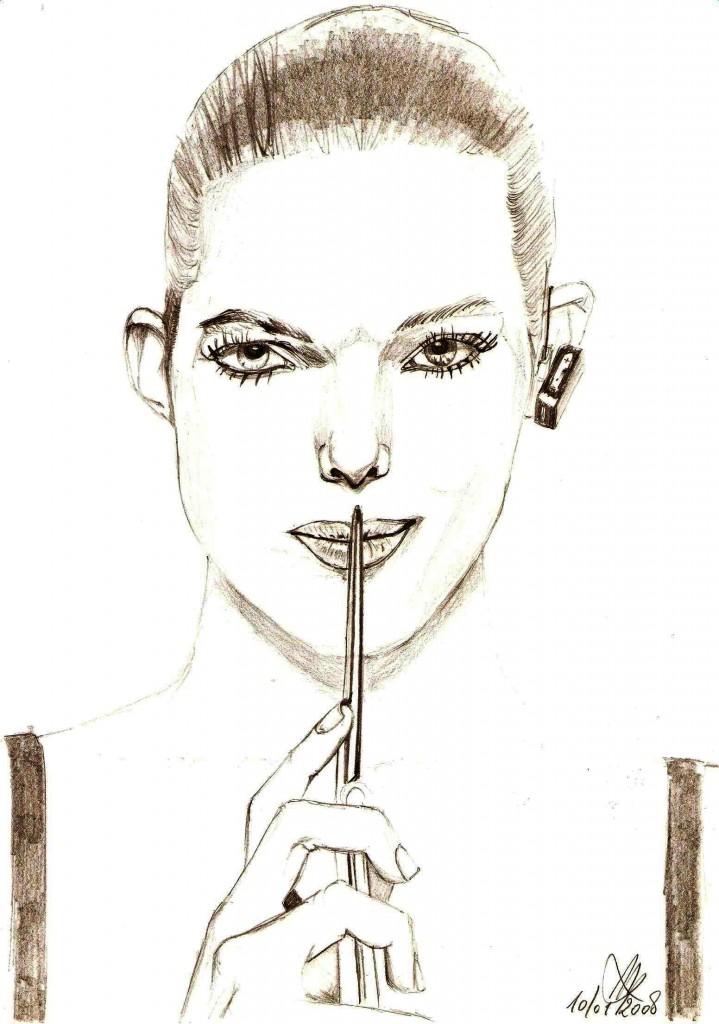 Ritratto, 2008 matita su foglio A4-Pasquale Mastrogiacomo
