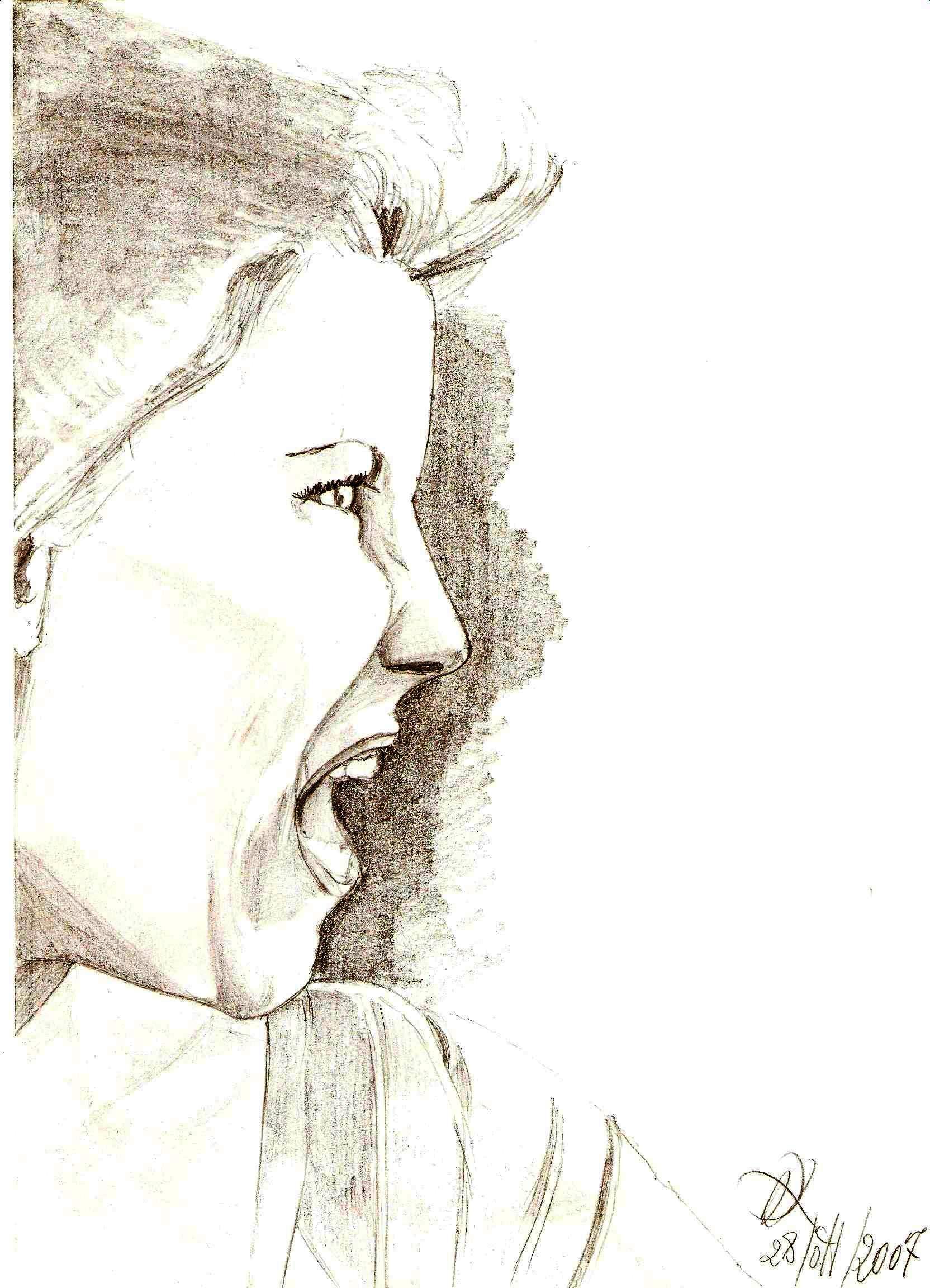 Ritratto, 2007 matita su foglio A4,Pasquale Mastrogiacomo, Acerno(SA).