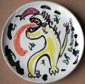 Mostro, ceramica artistica, ceramica artistica contemporanea, Pio Mastrogiacomo Acerno (SA)
