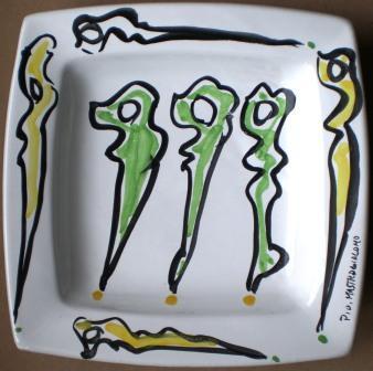 Ceramica artistica,1999, Pio Mastrogiacomo, Acerno(SA).