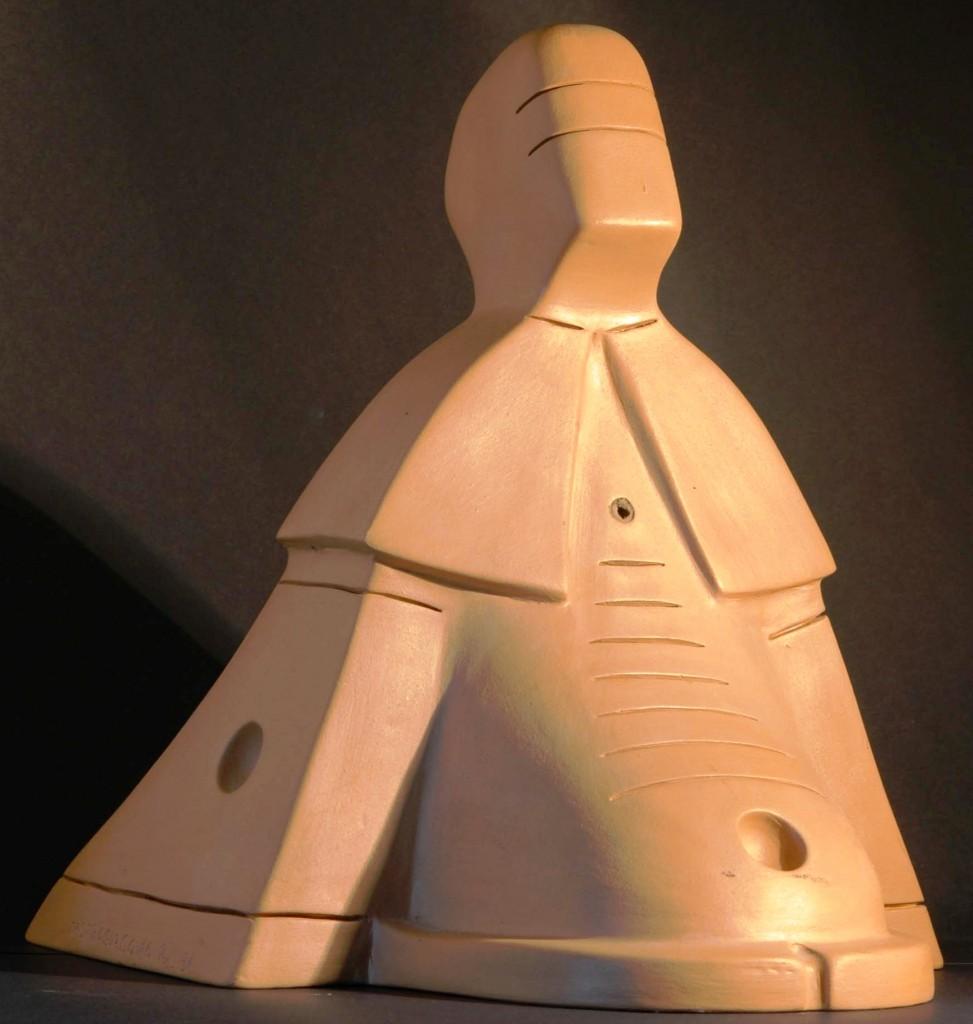 "Tempio ""vescovo-morfo"", 1996 h 35 cm  terracotta, Pasquale Mastrogiacomo,Acerno (SA)"