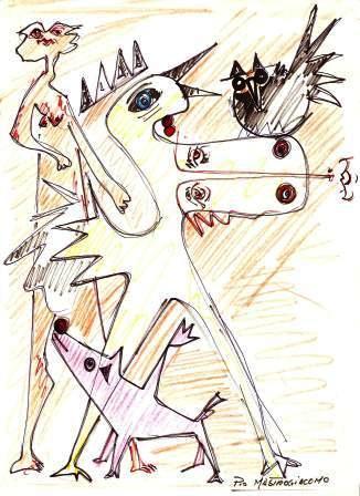 Disegno, pastelli su carta, Pio Mastrogiacomo Acerno (SA)