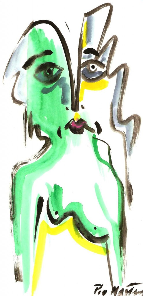 Disegno,acquerello su carta, Pio Mastrogiacomo Acerno (SA)