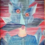 Mezzobusto di un palazzinaro, 2007 olio su tela cm 50x70, Pasquale Mastrogiacomo, Acerno (SA).