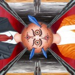 Contrapposizione di visioni (Clash of visions), 2008 olio su tela cm 60x80, Pasquale Mastrogiacomo Acerno (SA)