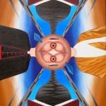 Le coscienze nella storia(The conscience of the story), 2007 olio su tela cm60x90, Pasquale Mastrogiacomo Acerno(SA)