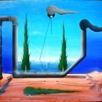 Natura morta, 2013 olio su tela cm 70x60, Pasquale Mastrogiacomo, Acerno (SA).