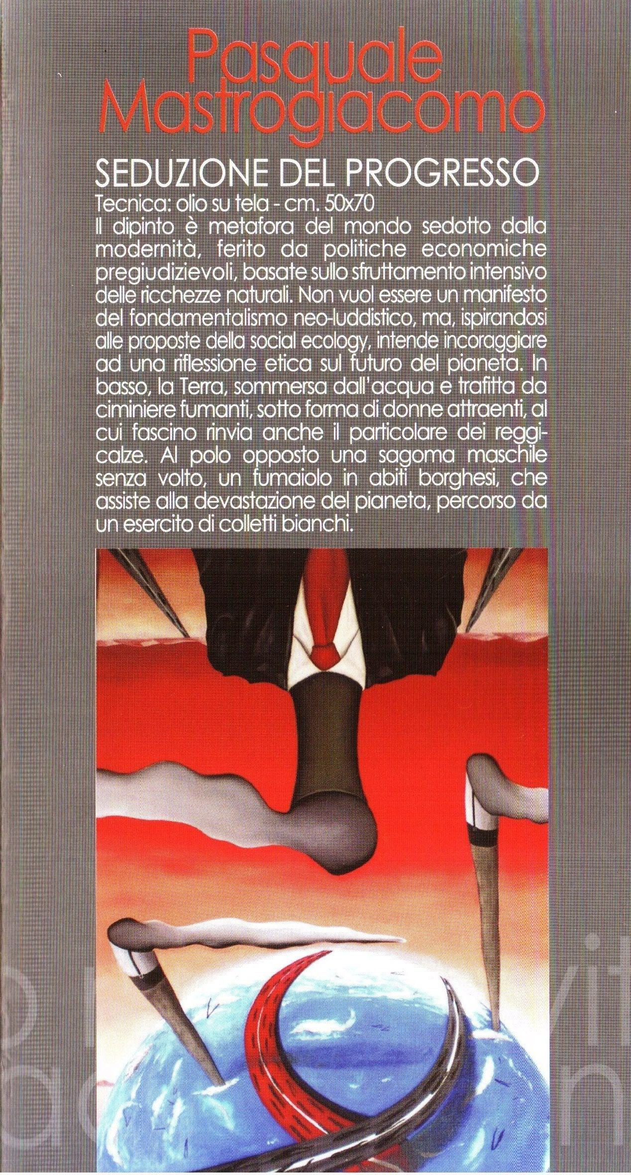 """Pagina del catalogo """"Rifiuti in cerca di autore, Second life 2009/10, Salerno in arte""""-Pasquale Mastrogiacomo"""